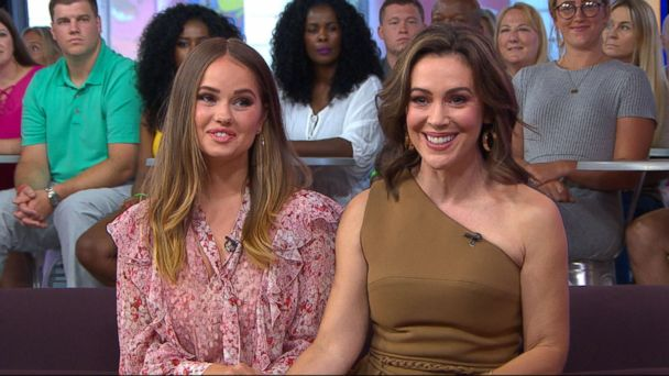 Alyssa milano and debby ryan hope viewers give insatiable a chance insatiable stars alyssa milano and debby ryan hope viewers give series a chance despite backlash m4hsunfo