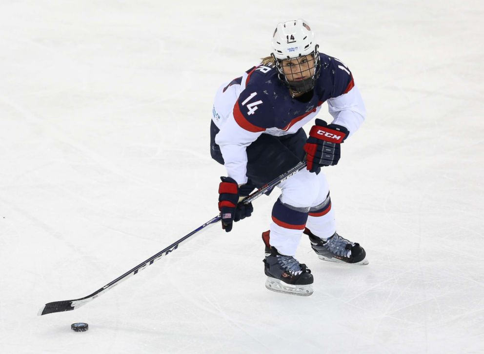 PHOTO: Brianna Decker USA in action during the Womens Ice Hockey Preliminary Round Group A game between USA and Canada on day 5 of the Sochi 2014 Winter Olympics, Feb. 12, 2014, in Sochi, Russia.