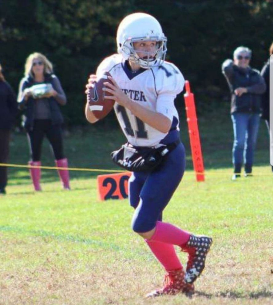 New England Patriots  Julian Edelman surprises teen girl quarterback ... 91cb2bf2f