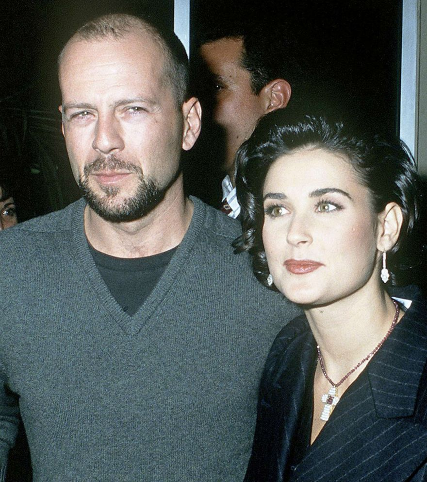 PHOTO: Actors Bruce Willis and Demi Moore attend a movie premiere at Mann Village Theatre in Westwood, Calif., Dec. 9, 1992.