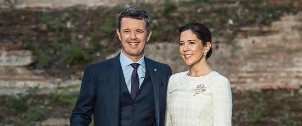 PHOTO: The Crown Prince Frederik and Crown Princess Mary of Denmark visit the ruins of one of Romes largest public baths, Nov 6, 2018.