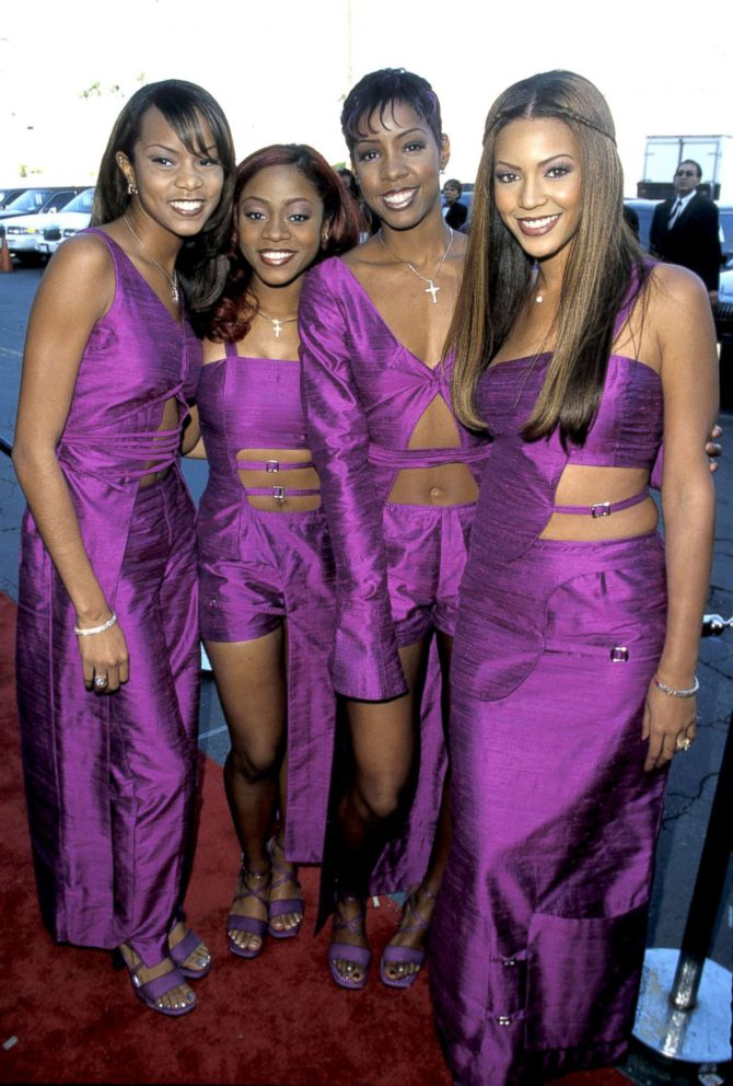 Members of Destiny's Child: LeToya Luckett, LaTavia Robertson, Kelly Rowland and Beyonce Knowles attend the Soul Train Music Awards, March 26, 1999, in Los Angeles.