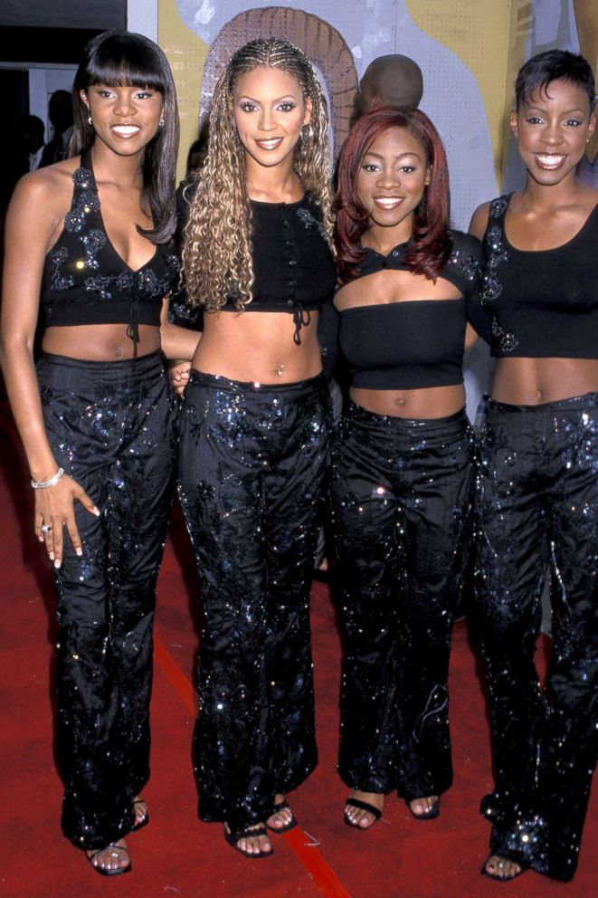 Members of Destiny's Child are pictured on Sept. 03, 1999, from left, LeToya Luckett, Beyonce Knowles, LaTavia Robertson and Kelly Rowland.