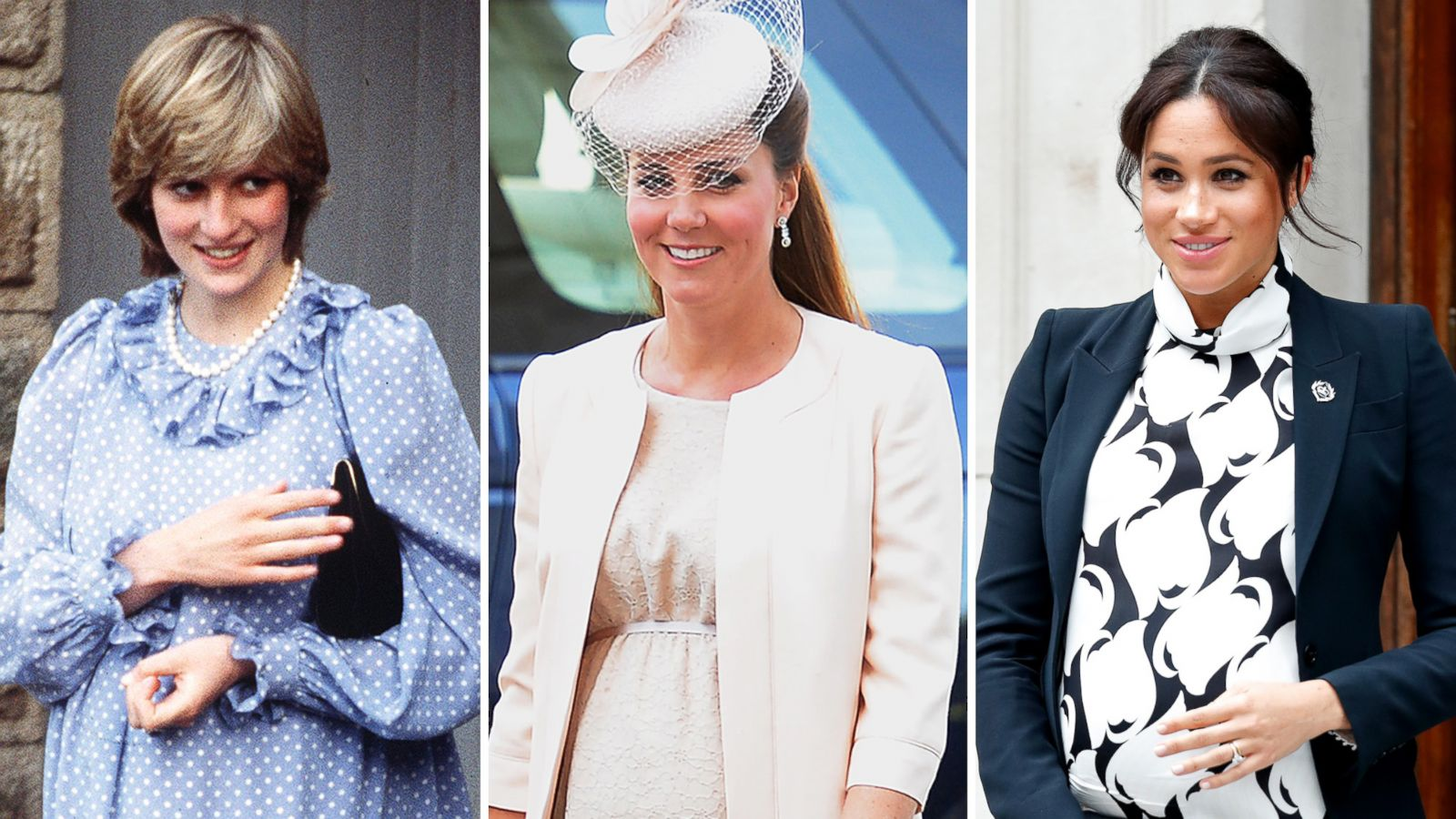 Royal Maternity Style Look Back At Meghan Kate And Dianas