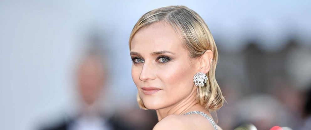 PHOTO: Diane Kruger arrives for the screening of the film Sink Or Swim (Le Grand Bain) at the 71st Cannes Film Festival in France, May 13, 2018.