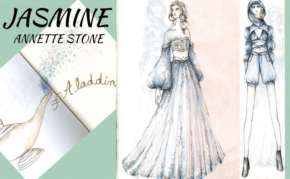 PHOTO: Annette Stone, a fourth-year student designing for Jasmine from Aladdin.