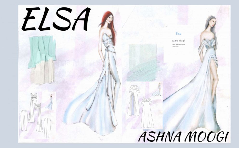 PHOTO: Ashna Moogi, a third-year student designing for Elsa from Frozen.