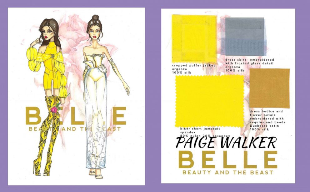 PHOTO: Paige Walker, a fourth-year student designing for Belle from Beauty and the Beast.