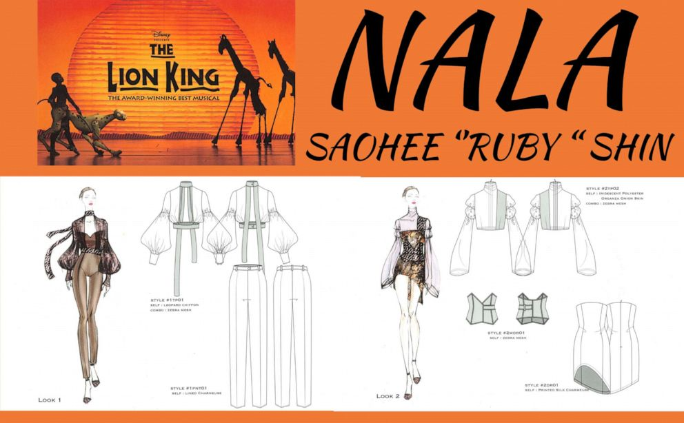 PHOTO: Ruby SeoHee Shin, a fourth-year student designing for Nala from The Lion King.