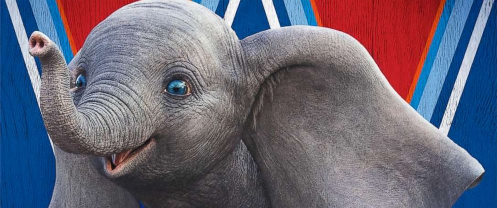 "PHOTO: Dumbo appears in a promotional image for the 2019 Disney film, ""Dumbo."""