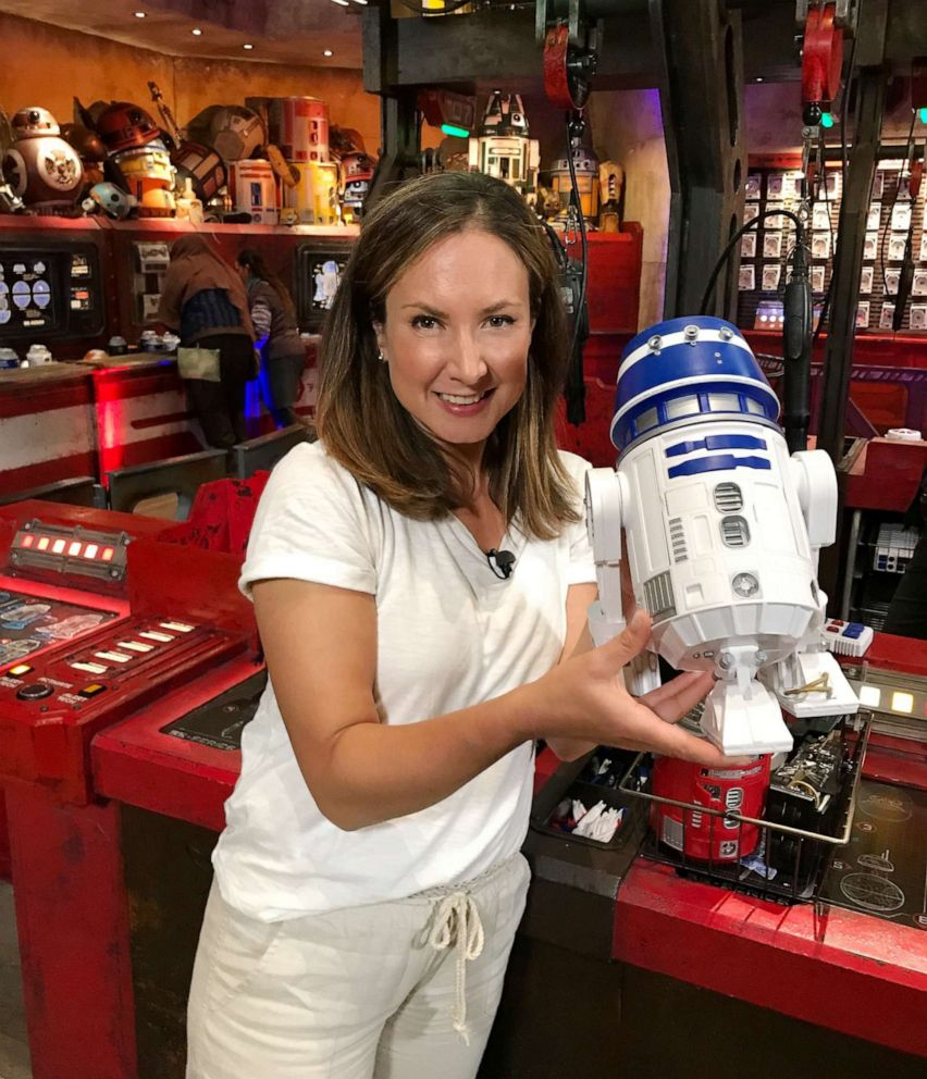 PHOTO: GMA built a droid at the Droid Depot at the brand-new Star Wars Galaxy's Edge.