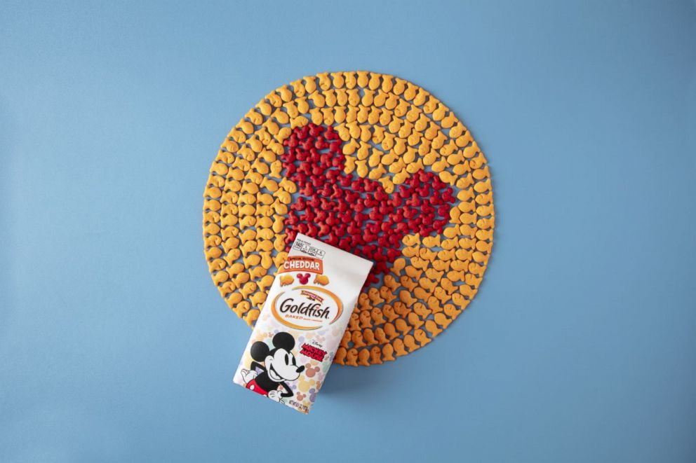 PHOTO: In honor of Mickeys 90th birthday, Pepperidge Farm has released a red Mickey-shaped cracker.