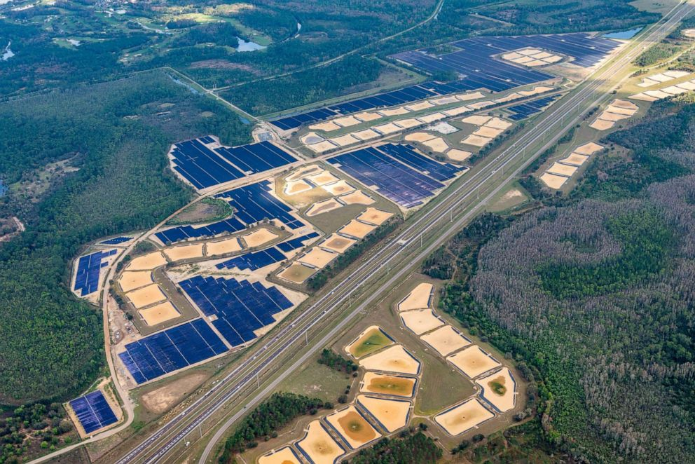 PHOTO: The 270-acre facility features over half a million solar panels.