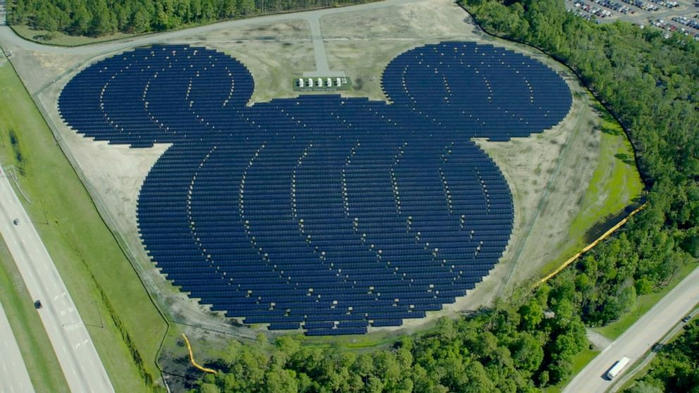 PHOTO: Disney unveiled its Mickey Mouse-shaped solar facility in 2016.