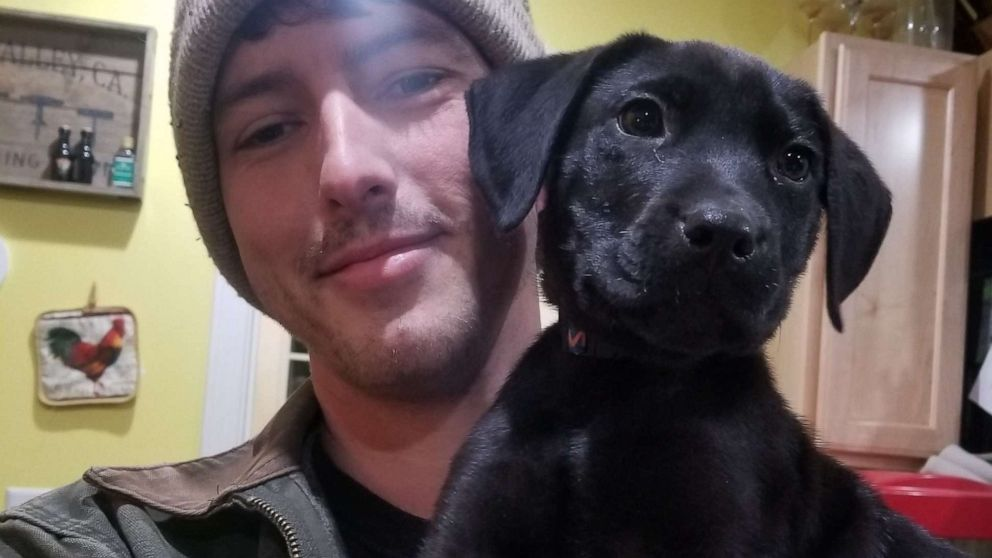 PHOTO: Nick Abbott, 31, of Maine, was born deaf and adopted a dog named Emerson, who is also deaf.