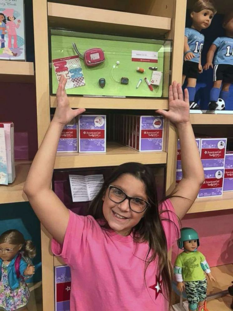 PHOTO: Bella Fricker, 11, of Georgia, raises money to buy American Girl dolls. She then visits hospitals and gives them to children fighting cancer.