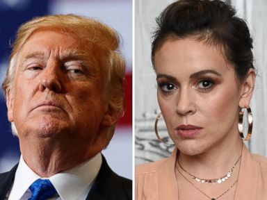 Alyssa Milano tees off on Trump, shares own experience with sexual assault
