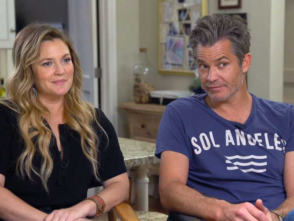 PHOTO: Good Morning America was on the set with Drew Barrymore and Timothy Olyphant to talk about their hit show The Santa Clarity Diet.