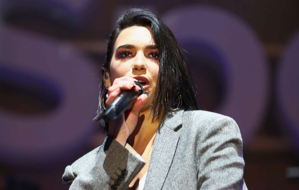 """Dua Lipa performs onstage during the Spotify """"Best New Artist 2019"""" party, Feb. 7, 2019, in Los Angeles."""