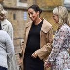 Meghan, Duchess of Sussex arrives at St Charles hospital in west London to visit Smart Works, a charity to which she has become patron, Jan. 10, 2019.