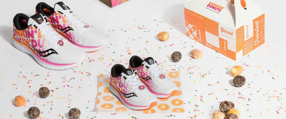 PHOTO: Saucony and Dunkin Donuts team up for a sweet sneaker launch.