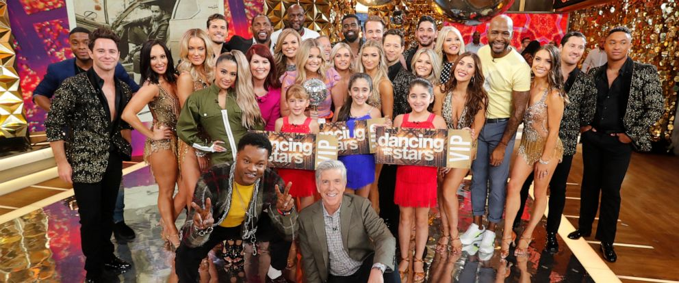"PHOTO: The 2019 cast of ""Dancing with the Stars"" is revealed on ""Good Morning America,"" Aug. 21, 2019, on ABC."