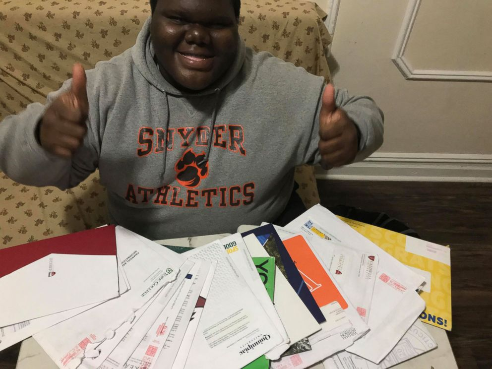 PHOTO: Dylan Chidick , 17, of N.J., recently got accepted to 17 colleges.