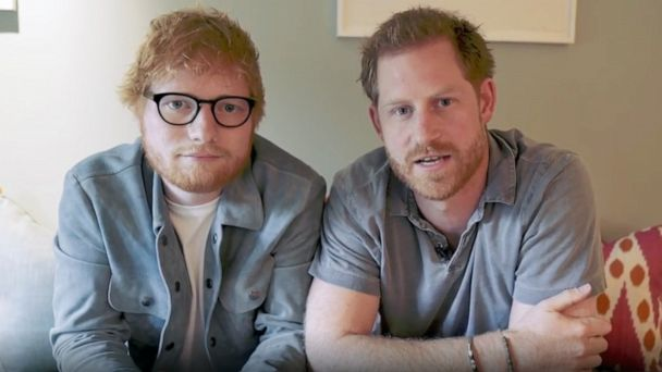 Prince Harry, Ed Sheeran poke fun at their ginger hair as they share message for World Mental Health Day