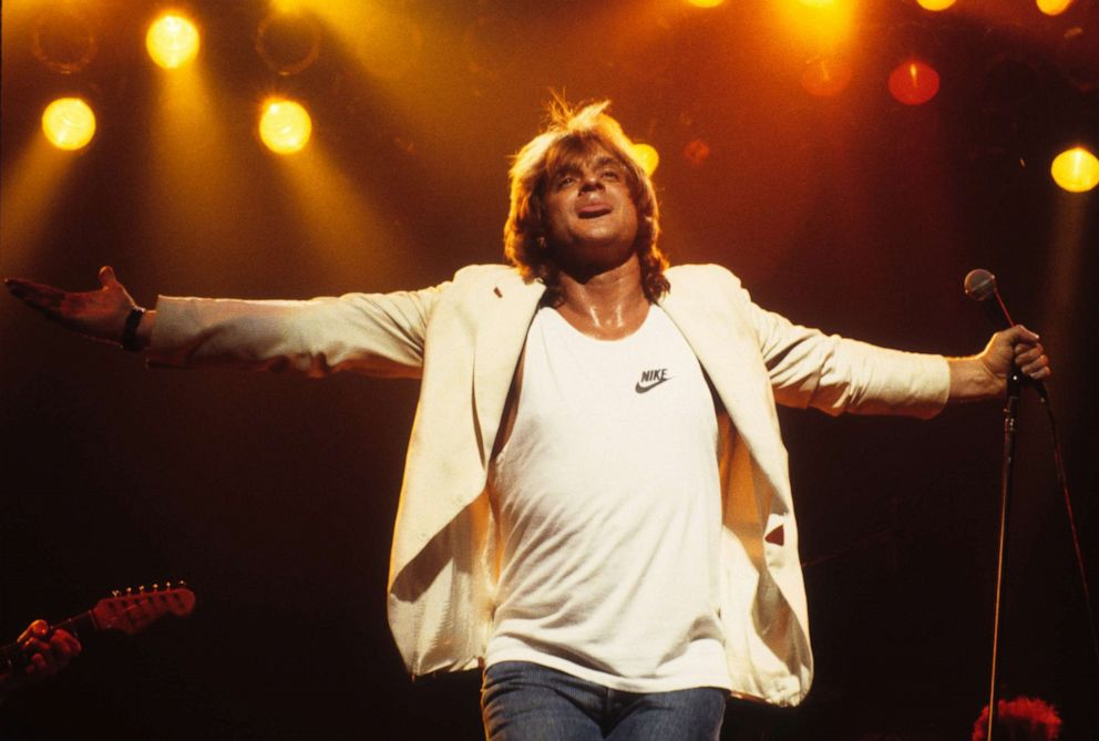 PHOTO: MINNEAPOLIS - MAY 2: Eddie Money performs at the Orpheum Theatre in Minneapolis, Minnesota on May 2, 1987. (Photo by Jim Steinfeldt/Michael Ochs Archives/Getty Images)