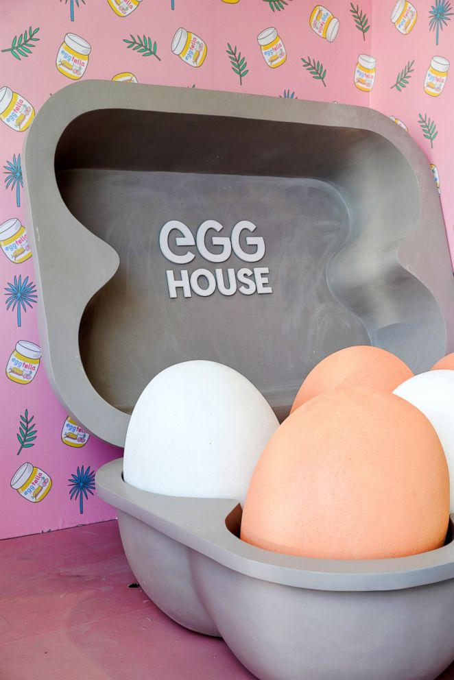 PHOTO: Egg House is an egg-themed pop-up space in Los Angeles.