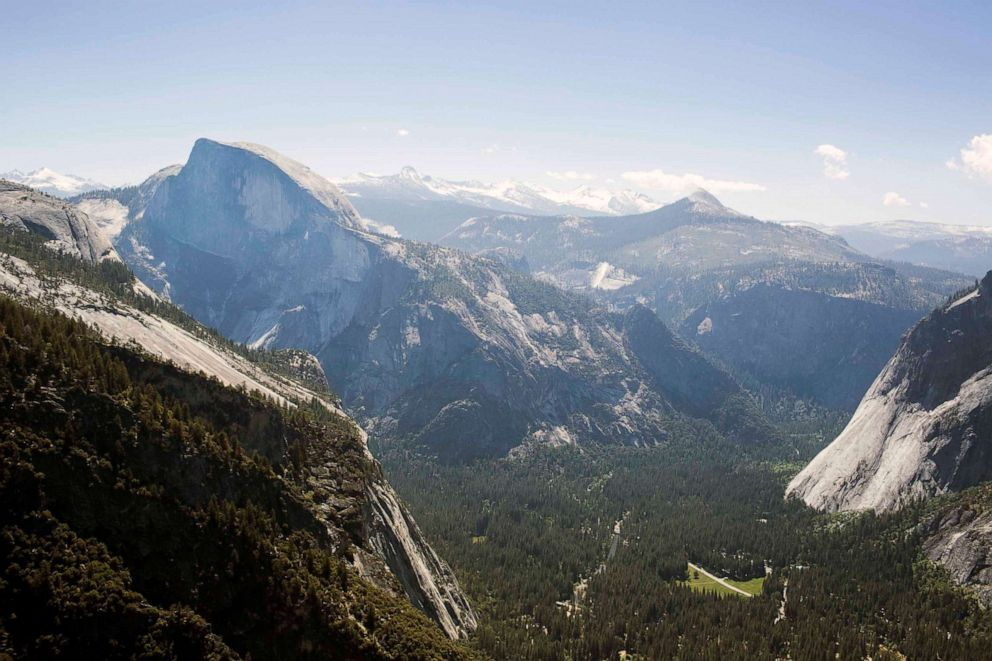 PHOTO: In this photo from May 27, 2015, Half-Dome is seen from the peak of El Capitan across Yosemite National Parks Yosemite Valley.