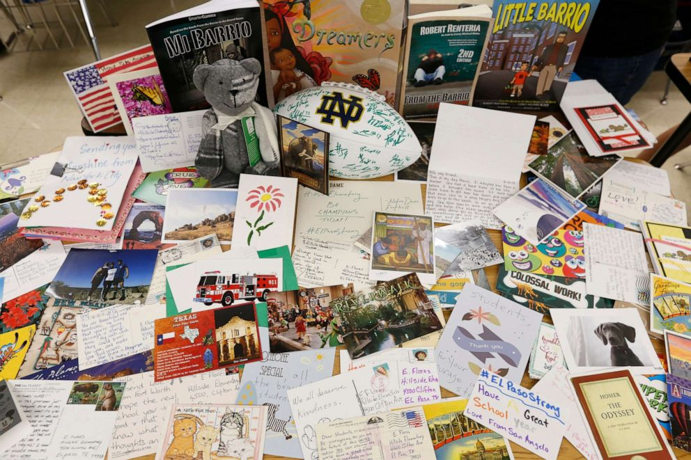 PHOTO: Thousands of postcards and items have arrived after a request from teachers in El Paso, Texas.