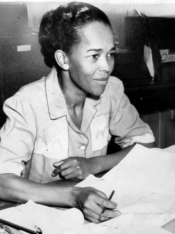 PHOTO: Ella Baker, NAACP Hatfield representative, sits behind a desk with paperwork, Sept. 18, 1941.