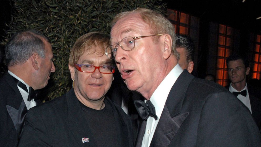 Elton John, Michael Caine comically encourage Brits to get COVID-19 vaccine