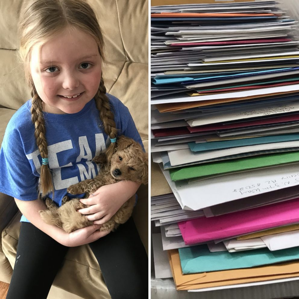 VIDEO: Girl fighting brain tumor asks for letters from dogs around the world