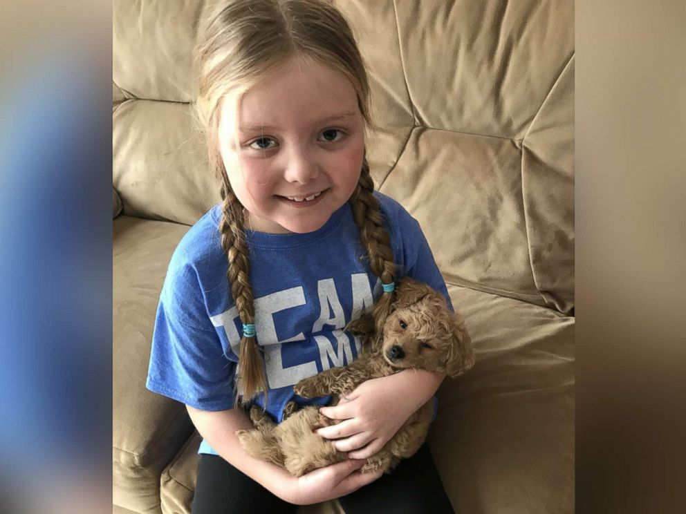Emma Mertens, 7, of Wisconsin, was diagnosed with a brain tumor on Jan. 23, 2019.