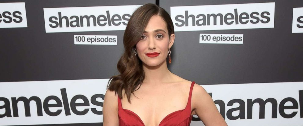 "PHOTO: Emmy Rossum attends the celebration of the 100th episode of Showtimes ""Shameless"" at DREAM Hollywood on June 9, 2018 in Hollywood, Calif."