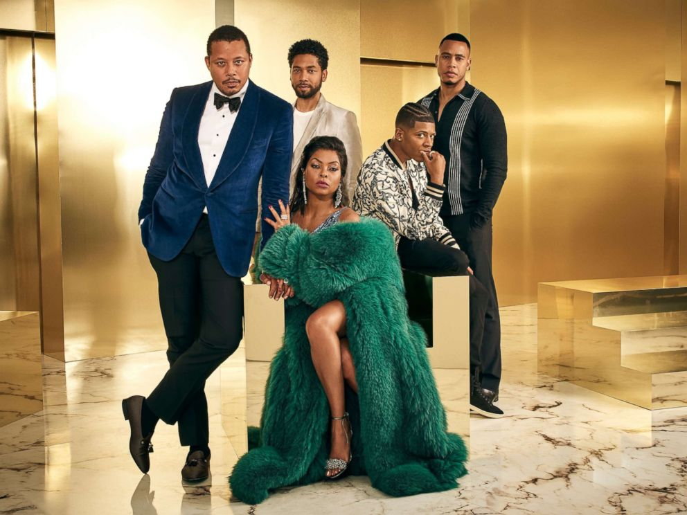 PHOTO: The cast of Empire, Terrence Howard, Jussie Smollett, Bryshere Gray, Trai Byers and Taraji P. Henson, pose in a promotional image for the program.
