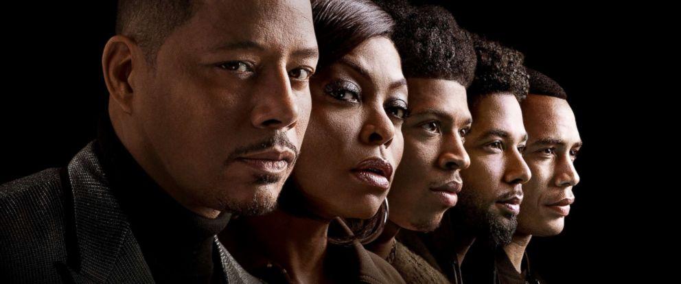 "PHOTO: Terrence Howard, Taraji P. Henson, Bryshere Y. Gray, Jussie Smollett and Trai Byers star in the Fox show, ""Empire."""