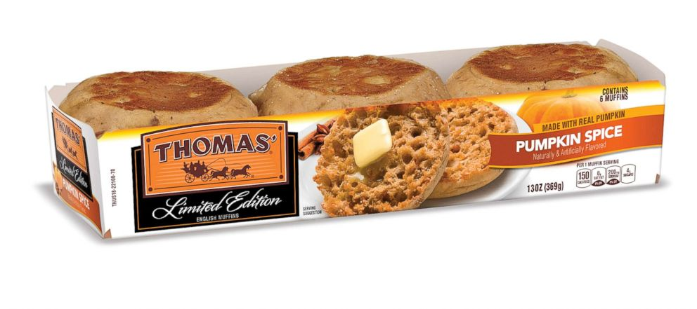 PHOTO: Thomas pumpkin spice English muffins are available this fall for a limited time.