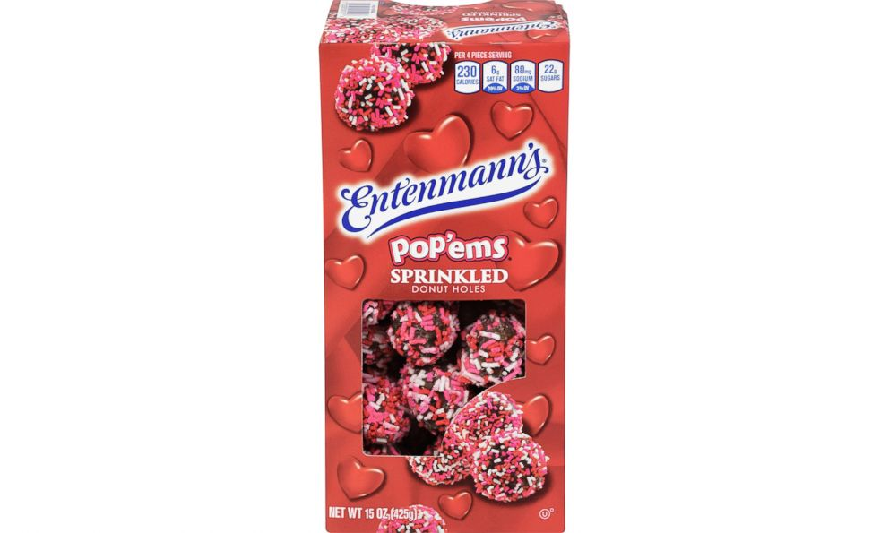 PHOTO: Entenmanns Valentines Day sprinkled popems donuts