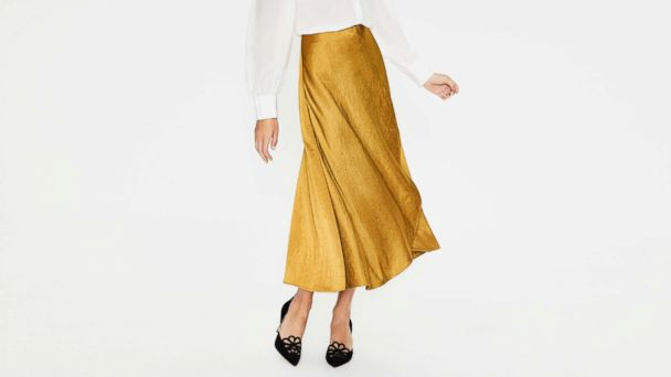 dee5771a0 Midi skirts are easy to incorporate into your daily wardrobe. Pictured: The  Epsom Midi