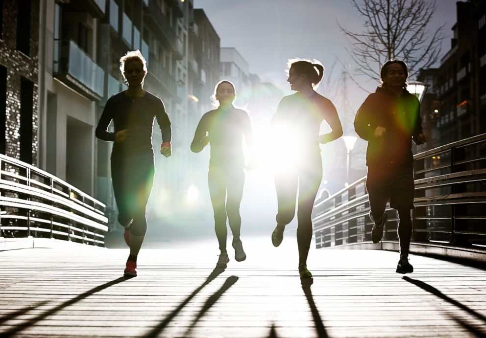 PHOTO: A group of runners exercise in this undated stock photo.