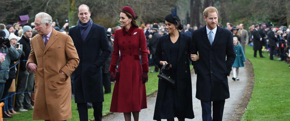 Meghan Markle Christmas.Prince William Kate Middleton Prince Harry And Meghan