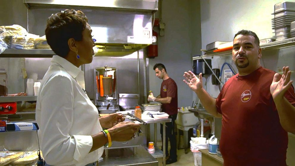 PHOTO: Yassin Terou, owner of Yassins Falafel House in Knoxville, Tenn., opens up in an interview with GMA.