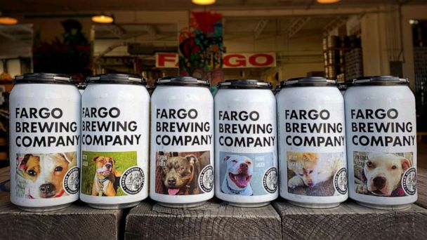 This brewery is featuring adoptable dogs on beer cans