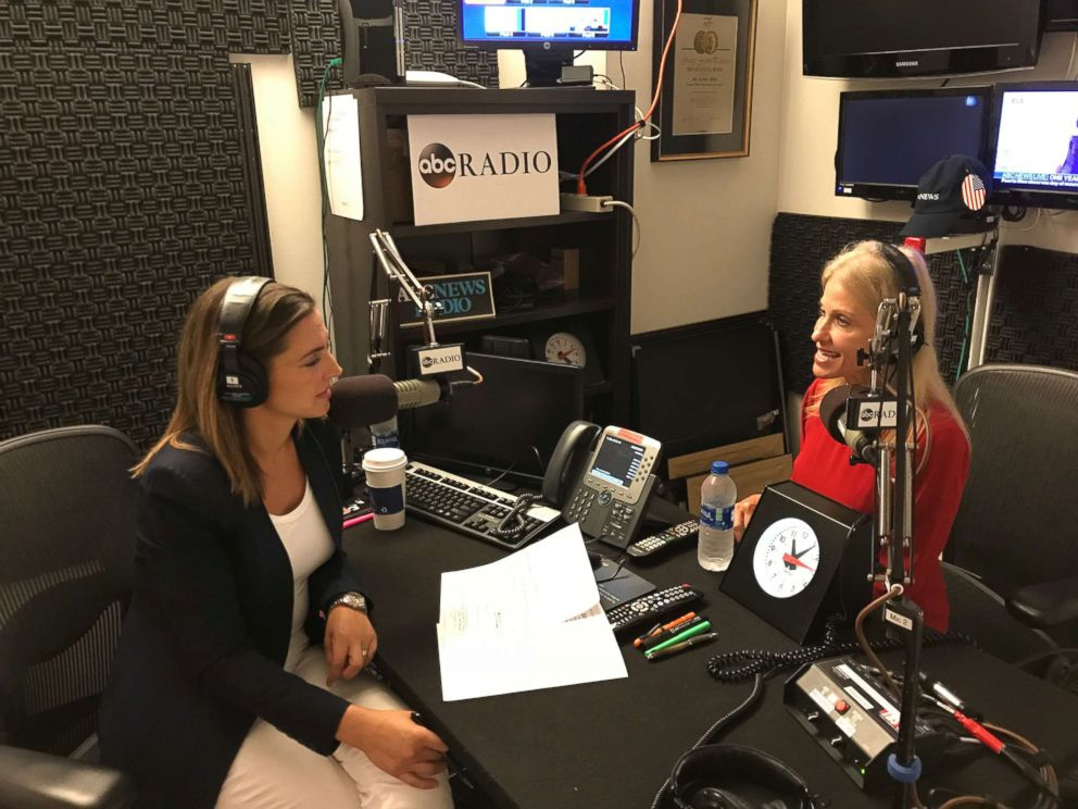 PHOTO: Kellyanne Conway talks to ABC News Paula Faris about her faith in a candid episode of her new podcast, Journeys of Faith with Paula Faris.