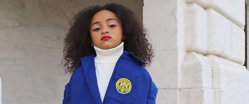 PHOTO: Aili Adalia, 6, a mini fashion blogger, channeled Tracee Ellis Ross fashion moment from InStyles November 2018 issue.