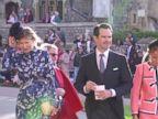WATCH:  Fascinators go flying at Princess Eugenie's royal wedding