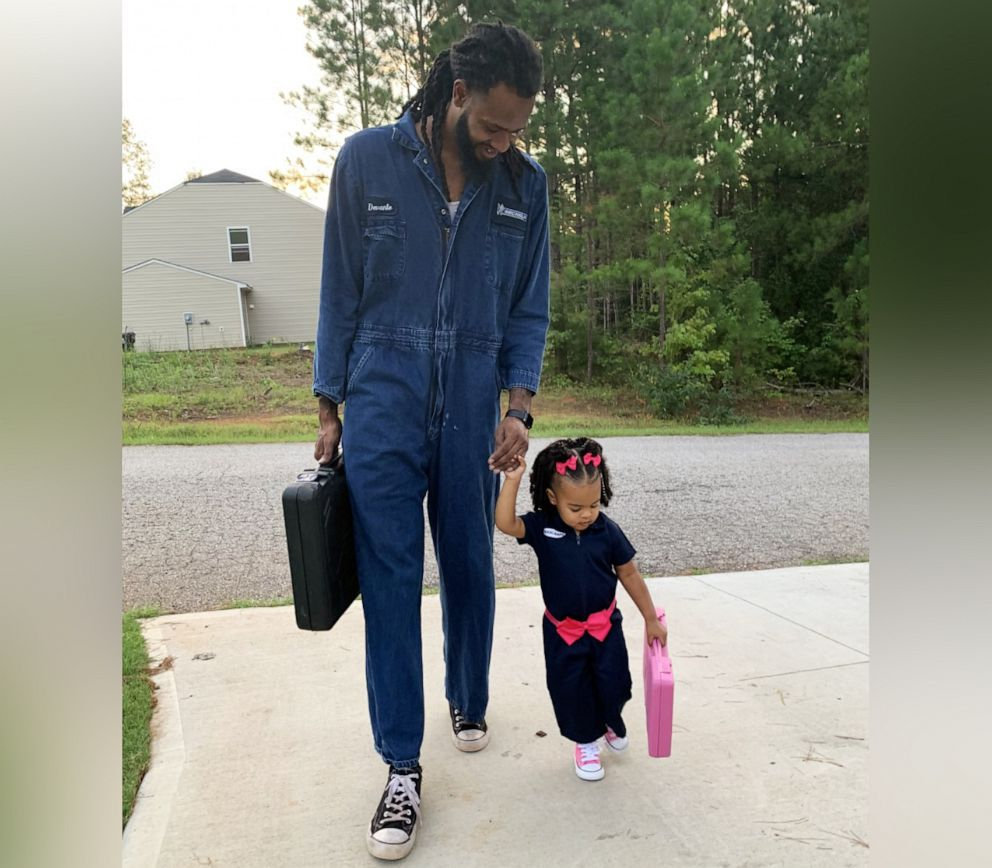PHOTO: Devante Bennett-Dotson of Anderson, S.C., poses with his daughter, Londyn Bennett-Dotson, 2, in honor of their birthdays, which are one day apart.